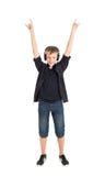 Garçon d'adolescent - fan de musique. Image stock