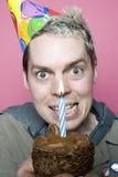 Garçon d'anniversaire avec une vengeance images stock
