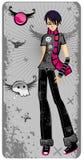 Garçon d'Emo illustration de vecteur
