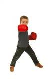 Garçon d'enfant de boxe Images stock