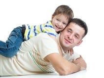 Garçon d'enfant de père et d'enfant Photos libres de droits
