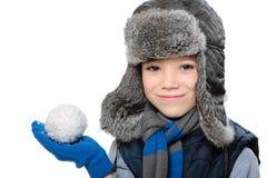 Garçon d'hiver Photos stock