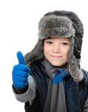 Garçon d'hiver Photographie stock libre de droits