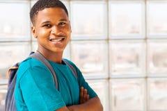 Garçon d'université africain Images stock