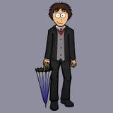 Garçon dans l'illustration anglaise de costume Photo stock