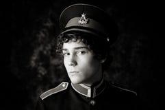 Garçon dans l'uniforme de bande Photo libre de droits