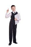 Garçon dans l'uniforme scolaire images libres de droits