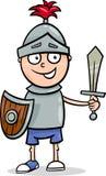 Garçon dans la bande dessinée de costume de chevalier Photos libres de droits