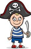 Garçon dans la bande dessinée de costume de pirate Photo libre de droits
