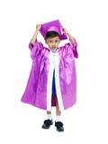 Garçon dans la robe de graduation photos libres de droits