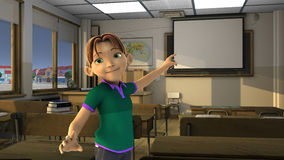 Garçon dans la salle de classe Photo libre de droits