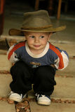 Garçon dans le chapeau photos libres de droits