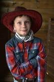 Garçon dans le chapeau de cowboy photographie stock