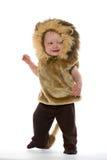 Garçon dans le costume de lion Photo stock
