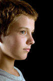 Garçon dans le profil Image libre de droits