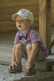 Garçon dans un capuchon Photo stock