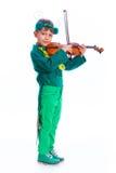 Garçon dans un costume de sauterelle Images stock