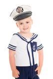 Garçon dans un costume du garçon de carlingue de mer Image libre de droits