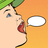 Garçon de bande dessinée de vecteur dans un chapeau Photographie stock libre de droits