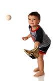 Garçon de base-ball image stock