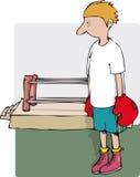 Garçon de boxeur illustration libre de droits