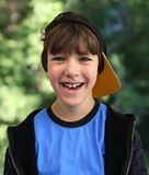 Garçon de casquette de baseball Image libre de droits