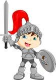 Garçon de chevalier de bande dessinée Image libre de droits