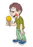 Garçon de crème glacée  Image libre de droits