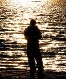 Garçon de Fisher Images libres de droits