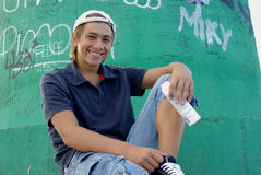 Garçon de graffiti photo libre de droits