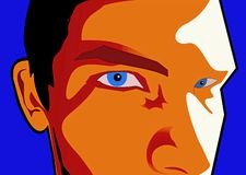 Garçon de œil bleu illustration stock