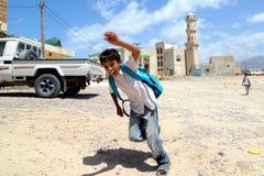 Garçon de jeunes d'île de Socotra Photographie stock