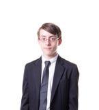 Garçon de l'adolescence dans le costume Photographie stock libre de droits