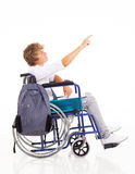 Garçon de l'adolescence handicapé Images libres de droits