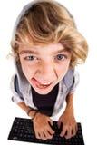 Garçon de l'adolescence vilain Photo libre de droits