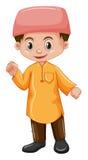 Garçon de l'Afghanistan dans la chemise jaune Image stock