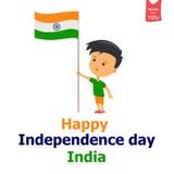 Garçon de l'indépendance d'Inde Photographie stock libre de droits