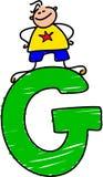 Garçon de la lettre G illustration de vecteur