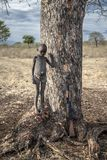 Garçon de la tribu africaine Mursi, Ethiopie images stock