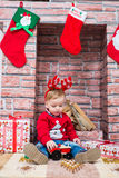 Garçon de Noël Photos stock