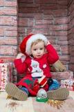 Garçon de Noël Photo stock