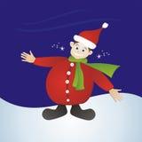 Garçon de Noël avec le chapeau de Santa photographie stock