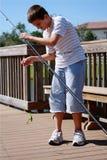 Garçon de pêche Photo libre de droits
