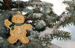 Garçon de pain de gingembre de Noël   Image libre de droits