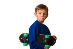 Garçon de panneau de patin Images libres de droits