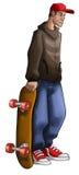 Garçon de patin illustration de vecteur