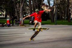Garçon de patineur photographie stock libre de droits