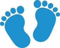 Garçon de pieds de bébé illustration libre de droits
