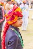 Garçon de Rajasthani Photographie stock libre de droits