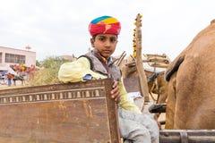 Garçon de Rajasthani Photos stock